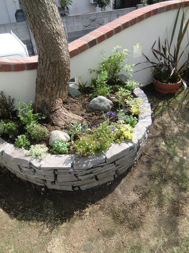 石積の花壇の写真1