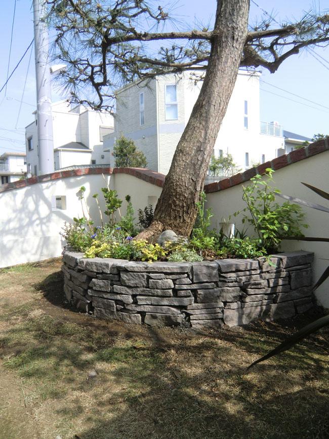 石積の花壇の写真2