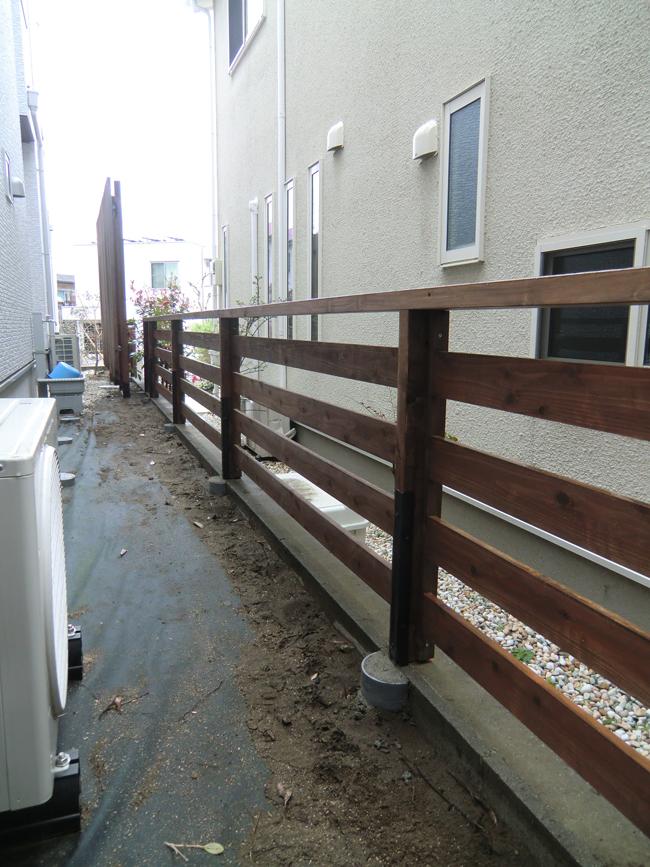 ウッドフェンスの写真3